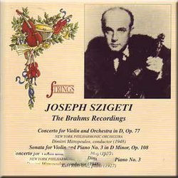 Joseph Szigeti:  The Brahms Recordings