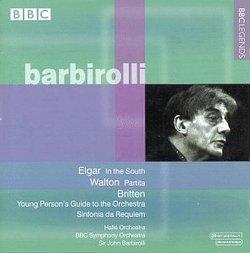 Elgar: In the South; Walton: Partita; Britten: Sinfonia da Requiem