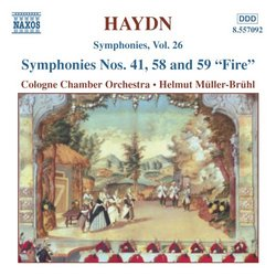 "Haydn: Symphonies Nos. 41, 58 and 59 ""Fire"""