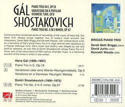Gal: Piano Trio in E, Op.18; Variations on a Popular Viennese Tune, Op.9; Shostakovich: Piano Trio No. 2 in E minor, Op. 67
