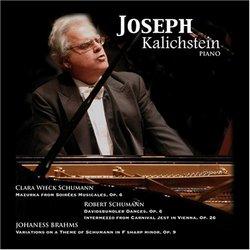 Clara Schumann, Brahms, Schumann: Works for piano
