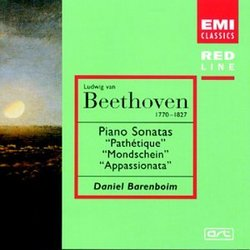 "Beethoven: Piano Sonatas No. 8 ""Pathetique"" / No. 14 ""Moonlight"" / No. 23 ""Appassionata"" / Daniel Barenboim"
