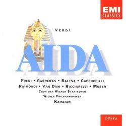 Verdi - Aida / Freni · Carreras · Baltsa · Cappuccilli · Raimondi · van Dam · Ricciarelli · Moser · Wiener Phil. · Karajan