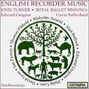 World Premieres of English Recorder Music