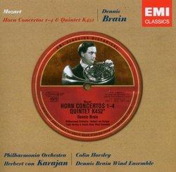 Mozart: Horn Concertos 1-4; Quintet K 452