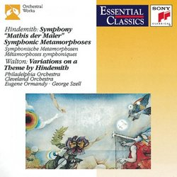 """Hindemith: Symphony """"Mathis der Maler"""" Symphonic Metamorphoses / Walton: Variations on a Theme by Hindemith"""