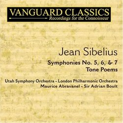 Jean Sibelius: Symphonies No. 5, 6, & 7; Tone Poems