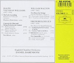 Williams: The Lark Ascending / Delius: 2 Pieces for Small Orchestra
