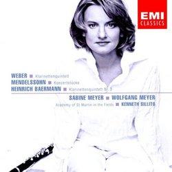 Weber/Mendelssohn/Baermann: Clarinet Works