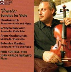 Finale: Sonatas for Viola