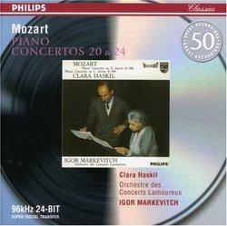 Mozart: Piano Concertos Nos. 20 & 24
