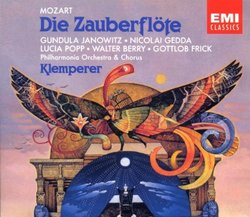 Mozart: Die Zauberflöte / Janowitz, Gedda, Popp, Berry, Frick, Schwarzkopf, Ludwig; Klemperer