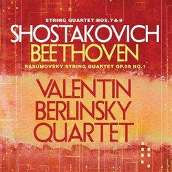 "Shostakovich String Quartets 7 & 8 / Beethoven ""Rasamovsky"" String Quartet Op. 59, No. 1"