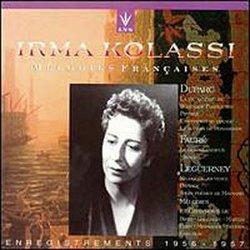 Irma Kolassi: Melodies Francaises, Enregistrements 1956-1957