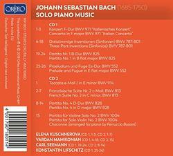 Bach: Solo Piano Music