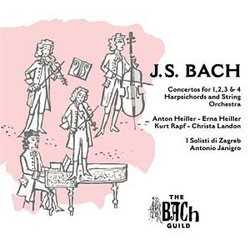 J.S. Bach: Concertos for 1, 2, 3 & 4 Harpsichords and String Orchestra