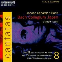 Bach: Cantatas, Vol 8 (BWV 22, 23, 75) /Bach Collegium Japan * Suzuki