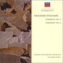 Vaughan Williams: Symphonies Nos. 4 & 6