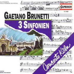 Brunetti: 3 Symphonies