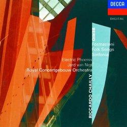Luciano Berio: Formazioni / Folk Songs / Sinfonia