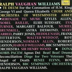 Vaughan Williams: Serenade To Music; Dona Nobis Pacem