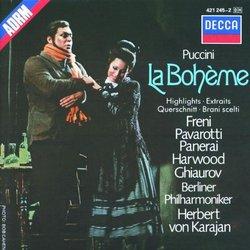 Puccini - La Bohème / Freni, Pavarotti, Harwood, Berlin Phil., Karajan [Highlights]