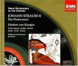 J. Strauss: Die Fledermaus / Schwarzkopf, Gedda, Streich, Krebs, Kunz, Christ; Karajan