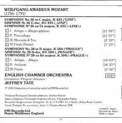 Symphonies/Sinfonien No. 36 'Linz' & No. 38 'Prague'