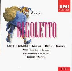 Verdi - Rigoletto / Sills · Milnes · Kraus · M. Dunn · Ramey · PO · Rudel