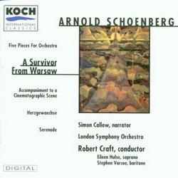 Schoenberg: Five Orchestra Pieces, Survivor from Warsaw