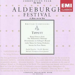 Tippett: Divertimento on 'Sellinger's Round'; Little Music; Sonata for 4 Horns; Ritual Dances from 'The Midsummer Marriage'
