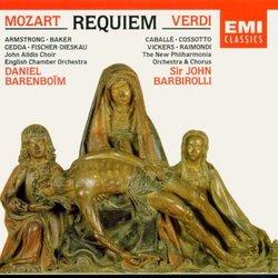 Mozart - Requiem / Armstrong · Baker · Gedda · Fischer-Dieskau · Barenboim & Verdi - Requiem /Caballé · Cossotto · Vickers · Raimondi · Barbirolli
