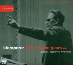 Klemperer:  The Cologne Years, Vol. 1