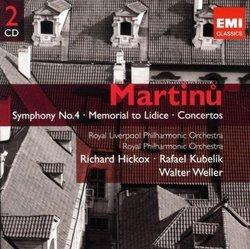 MARTINU: Symphony No.4, Memorial to Lidice, Concertos