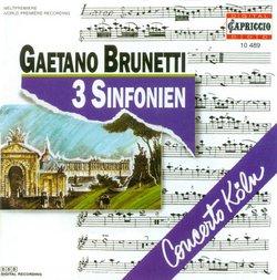 Gaetano Brunetti: 3 Sinfonien