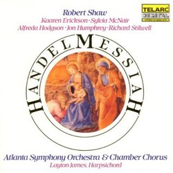 Handel - Messiah / Erickson, McNair, Hodgson, Humphrey, Stilwell, Atlanta SO, Shaw