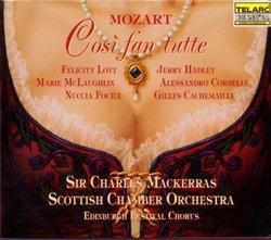 Mozart - Così fan tutte / Lott · McLaughlin · Focile · Hadley · Corbelli · Cachemaille · Sir Charles Mackerras