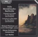 Mendelssohn-Bartholdy: Concerto in E major for Two Pianos; Concerto in A flat major for Two Pianos