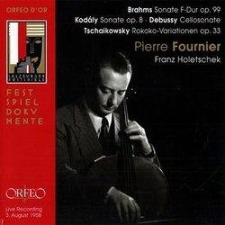 Brahms/Debussy/Tchaikovsky: Cello Sonatas
