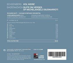 Schoenberg: Kol Nidre, Op. 39 - Shostakovich: Suite on Verses of Michelangelo Buonarroti, Op. 145a