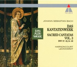 Bach: Das Kantatenwerk, Vol. 3 BWV 37 - 52, 54 - 60 [Box Set]