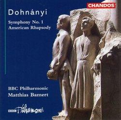 Dohnanyi: Symphony No. 1, American Rhapsody / Bamert, BBC PO