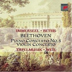 Piano Concerto 5 in E Flat Major / Violin Concerto