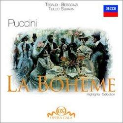 Puccini: La Boheme (Highlights) / Bergonzi, Tebaldi, et al