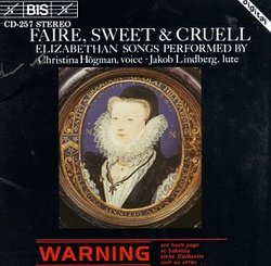 Faire, Sweet & Cruell: Elizabethan Songs for Soprano & Lute (rec. 1983)