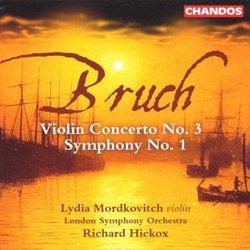 Bruch: Symphony No 1; Violin Concerto No 3 / London SO