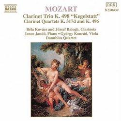 """Mozart: """"Kegelstatt"""" Trio, K. 498; Clarinet Quartets, K. 317d & K. 496"""