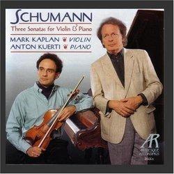 Schumann: Three Sonatas For Violin & Piano
