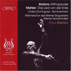 Brahms: Altrhapsodie; Mahler: Das Lied von der Erde