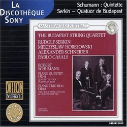 Schumann: Quintet for Piano & String in E Flat Major, Trio for Piano and Cello